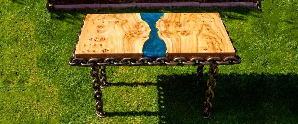 epoxy resin table top outdoor