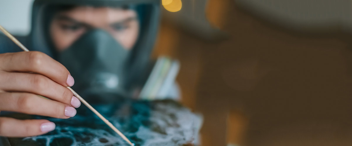 respirator mask for epoxy resin