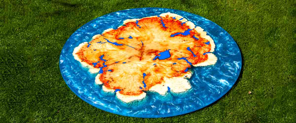 Blue Epoxy Resin Table Tops