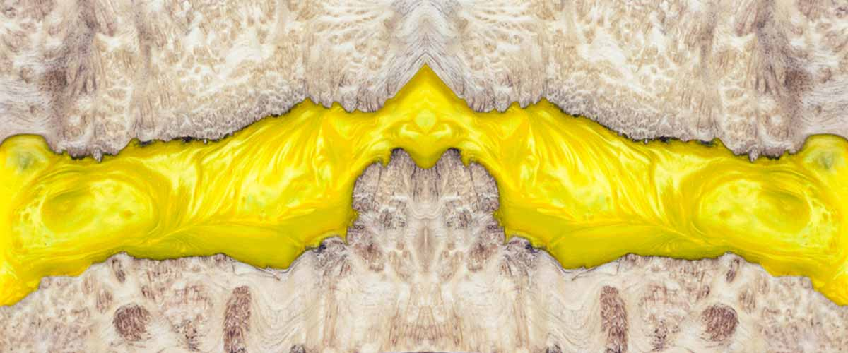 Yellow Epoxy Resin Table Top