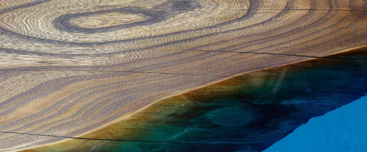 Plum epoxy resin table