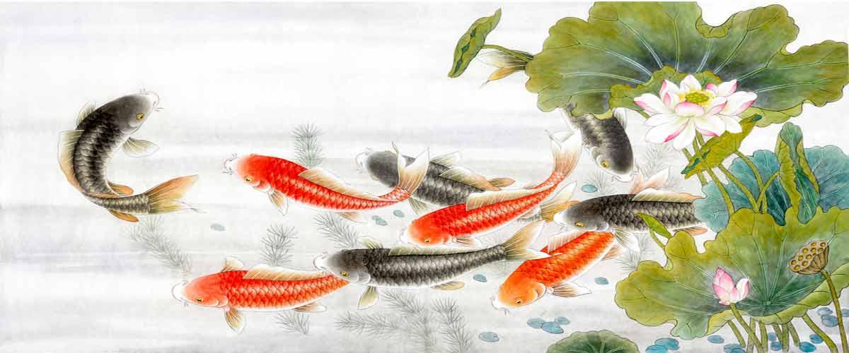 koi fish resin art