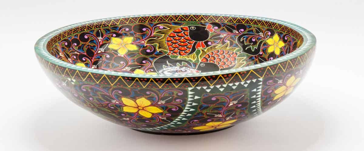 Resin fish bowl art